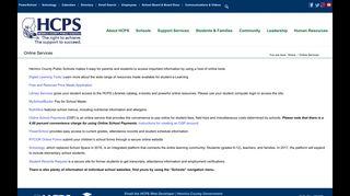 Online Services – Henrico County Public Schools