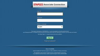 Oracle   PeopleSoft Enterprise Sign-in - Staples
