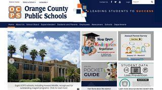 Orange County Public Schools: Home