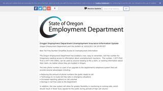 Oregon Employment Department Unemployment Insurance ...