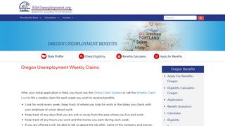 Oregon Unemployment Weekly Claims - FileUnemployment.org