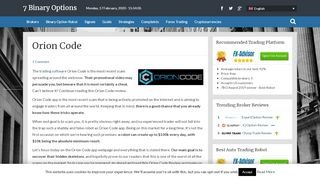 • Orion Code Review - Fake Claims And Fake Promises •