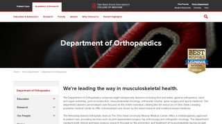 OSUWMC Software Systems - Department of Orthopaedics - The Ohio ...