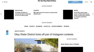 Otay Water District kicks off pair of Instagram contests - The ...