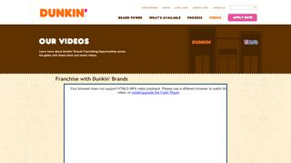 Our Videos | Dunkin' Brands - Dunkin' Franchising