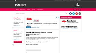 OurStage | Depfile Premium Account LoginEmail Hack 2017