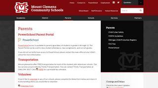 Parents - Mount Clemens Community Schools