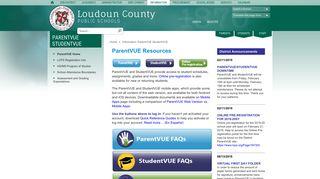 ParentVUE StudentVUE / ParentVUE Home - Loudoun County ...