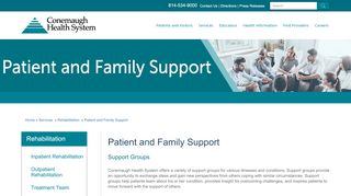 Patient & Family Support | Conemaugh Health System