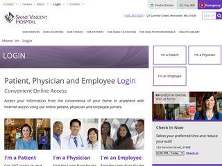 Patient, Physician and Employee Portal Login - Saint Vincent Hospital