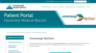 Patient Portal | Conemaugh Health System