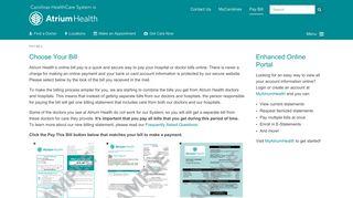 Pay Bill - Atrium Health
