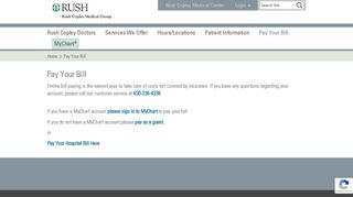 Pay Your Bill - Rush Copley Medical Center
