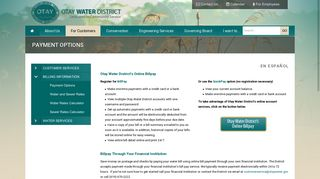 Payment Options - Otay Water District