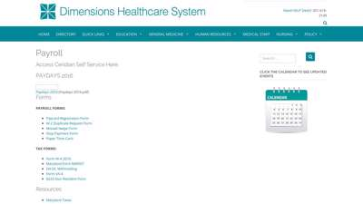 Payroll – Dimensions Healthcare System
