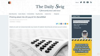 Phishing attack hits US payroll firm BenefitMall   The Daily Swig