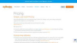 Pricing - zyBooks