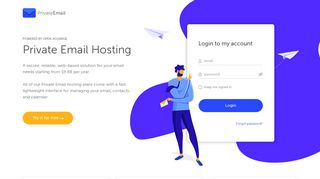 Private Email - Web-Based Business Hosting Solution
