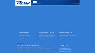 Pro Transport & Leasing Inc.  Home
