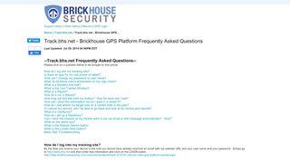 Product Support   BrickHouse Security Track.bhs.net - Brickhouse GPS ...