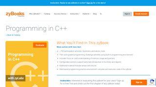 Programming In C - zyBooks