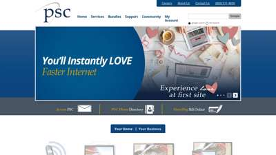 PSC - Leading Provider of Voice, Internet and Video in ...