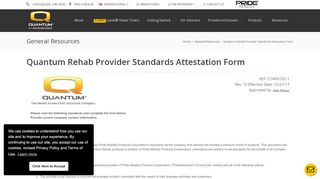 Quantum Rehab Provider Standards Attestation Form