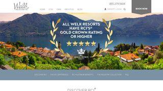 RCI Vacation, Travel, Resort, Exchange - Welk Resorts