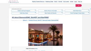 Read all about StarwoodONE, StarHOT and StarFRND