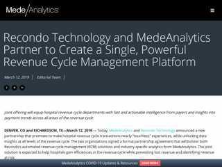 Recondo Technology and MedeAnalytics Partner to Create ...
