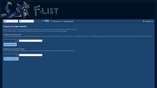 Recover login - F-list