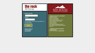 Red Rocks Community College Portal Page