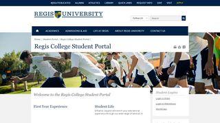 Regis University | Current Students | Regis College Student Portal