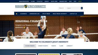 Regis University | Jesuit University | Top University | Colleges and ...