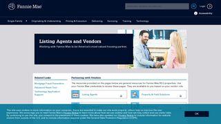 REO Listing Agents & Vendors - Fannie Mae