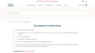 Reschedule Your Next Order - eSalon