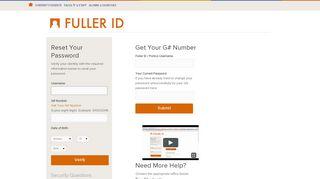 Reset Password - Fuller Login