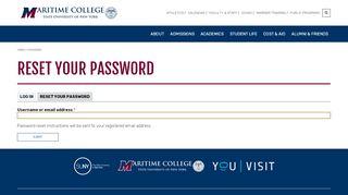 Reset your password   SUNY Maritime College