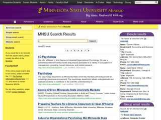 Results – Minnesota State University, Mankato