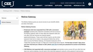 Retiree Gateway - CSX.com