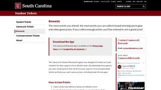 Rewards - Gamecock Tickets | University of South Carolina