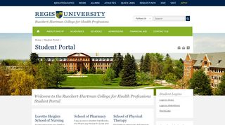 RHCHP Student Portal - Regis University