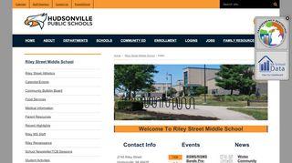 Riley Street Middle School - Hudsonville Public Schools