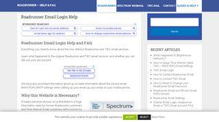 Roadrunner Email Login - TWC Email - RR.com Webmail Login