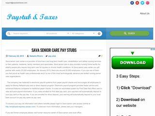 Sava Senior Care Pay Stubs | Paystub & Taxes
