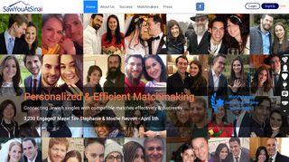 SawYouAtSinai: Jewish Dating & Matchmaking Site for Jewish ...