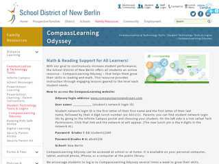 School District of New Berlin - CompassLearning Odyssey