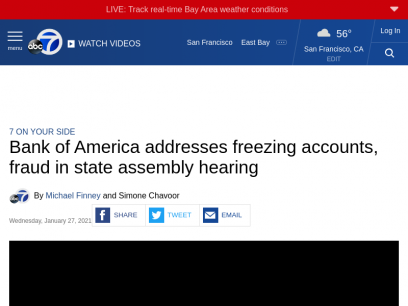 California unemployment: Bank of America addresses freezing accounts, fraud in state assembly hearing - ABC7 San Francisco