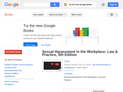 Sexual Harassment in the Workplace: Law & Practice, 5th Edition - Conte - Google Books