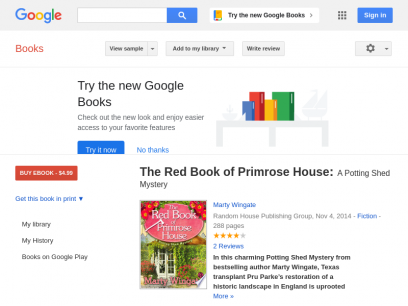 The Red Book of Primrose House: A Potting Shed Mystery - Marty Wingate - Google Books